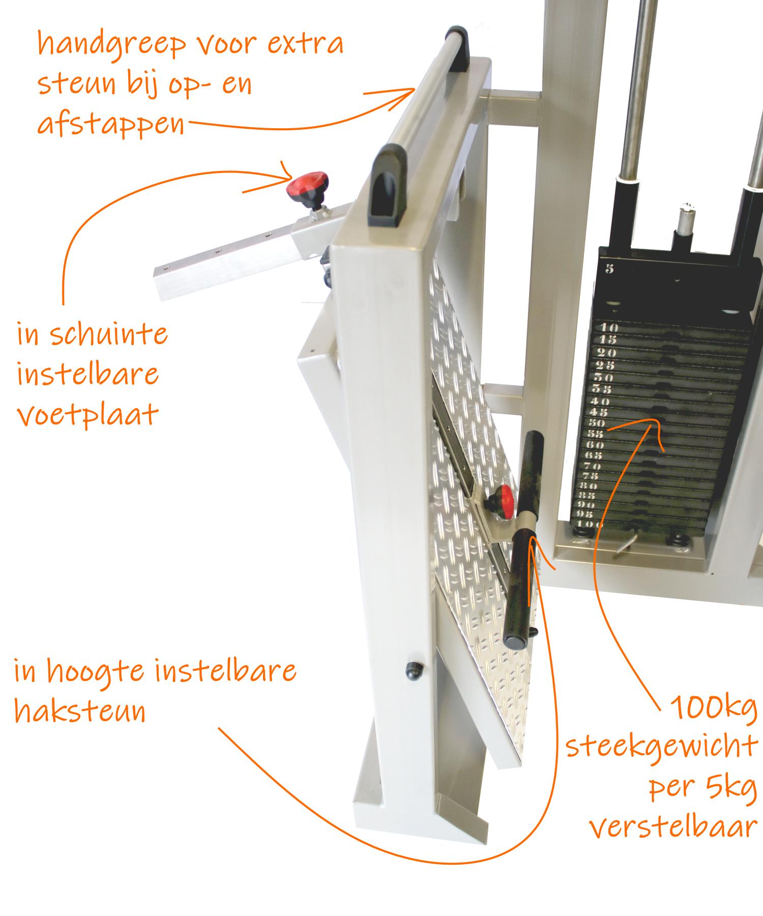 legpress-voetplaat-specificaties