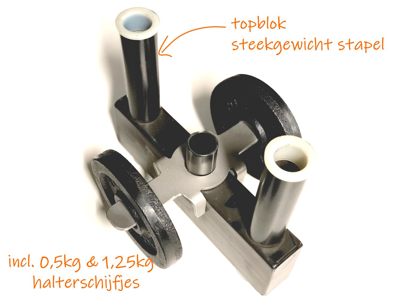 topblokbeugel-met-gewichten specificaties